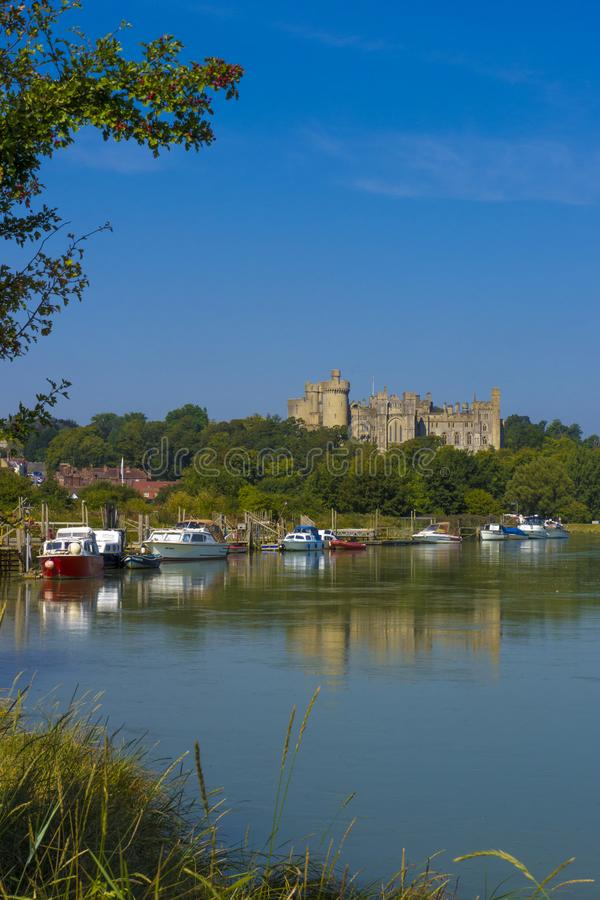 Arundel Castle & River Arun ,West Sussex, England UK stock images