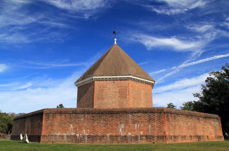 The Old Magazine. Built by Governor Spotswood in 1715, the magazine stored vital military supplies necessary for the protection of the Virginia colony October 6 stock photography