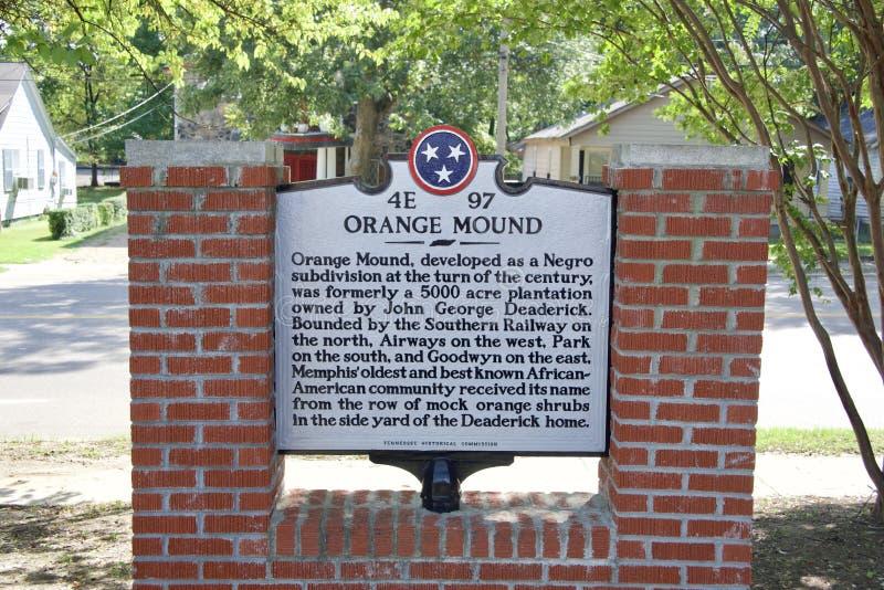 Orange Mound History stock photography