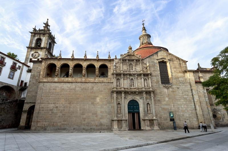 Amarante - Church of Sao Goncalo. Built in the sixteenth and seventeenth centuries is the renascentist, mannerist and baroque church of Sao Goncalo, in Amarante stock photography