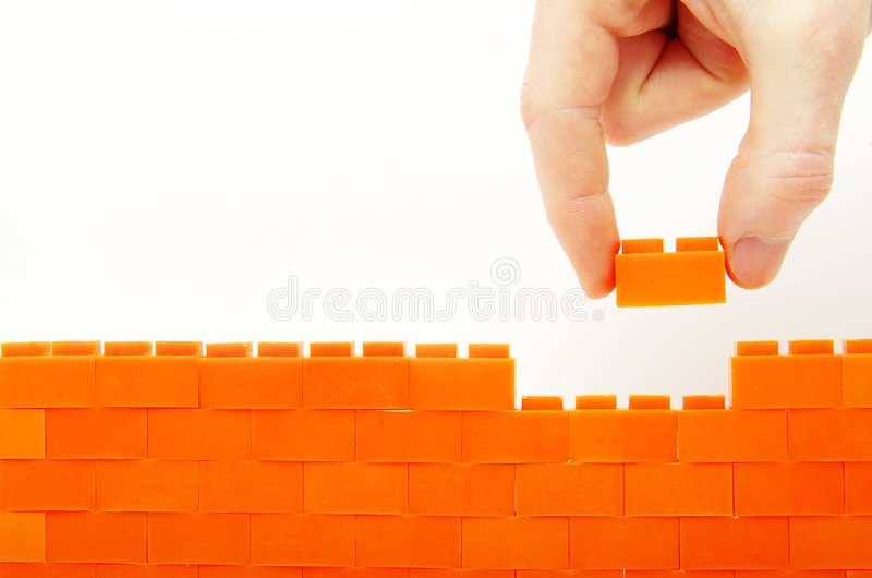 Built wall stock photo