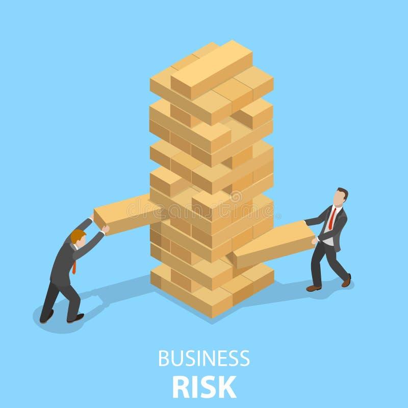 Buiness冒平的等量传染媒介概念的风险 向量例证