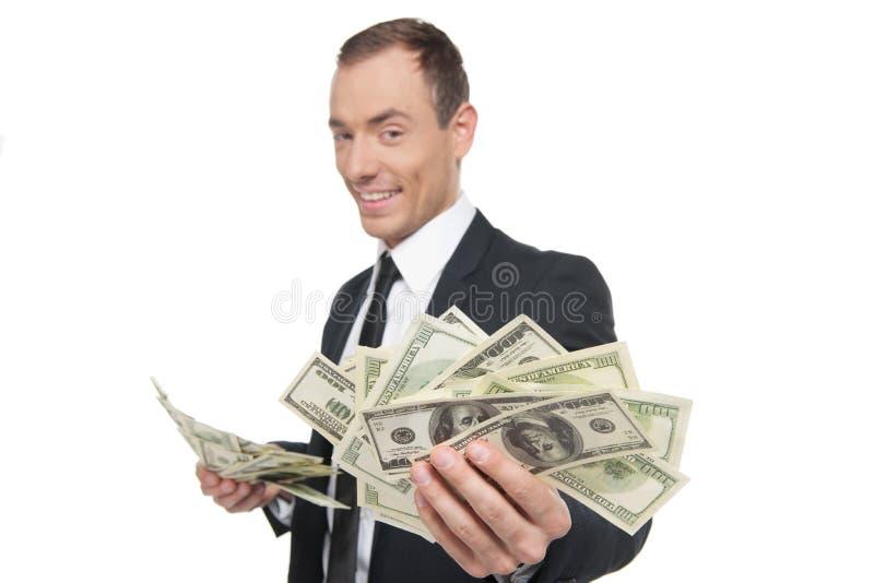 Buinessman bem sucedido. imagens de stock royalty free