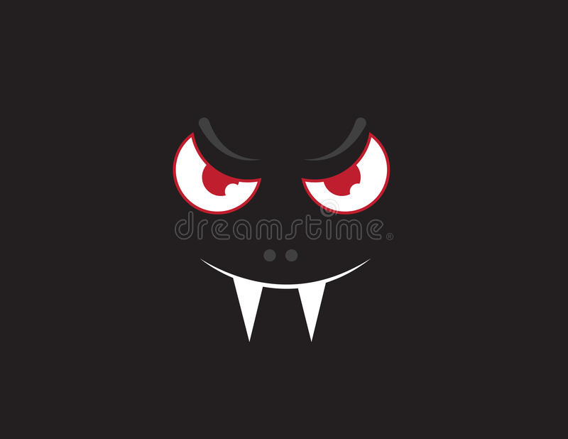 Buio del fronte del vampiro illustrazione di stock
