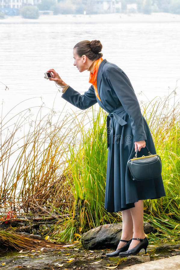 Download Buisiness Woman With Digital Camera Stock Photo - Image: 34566232