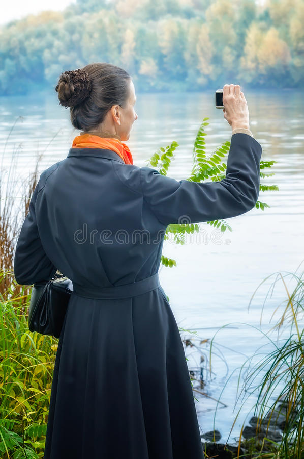 Download Buisiness Woman With Digital Camera Stock Image - Image: 34566269