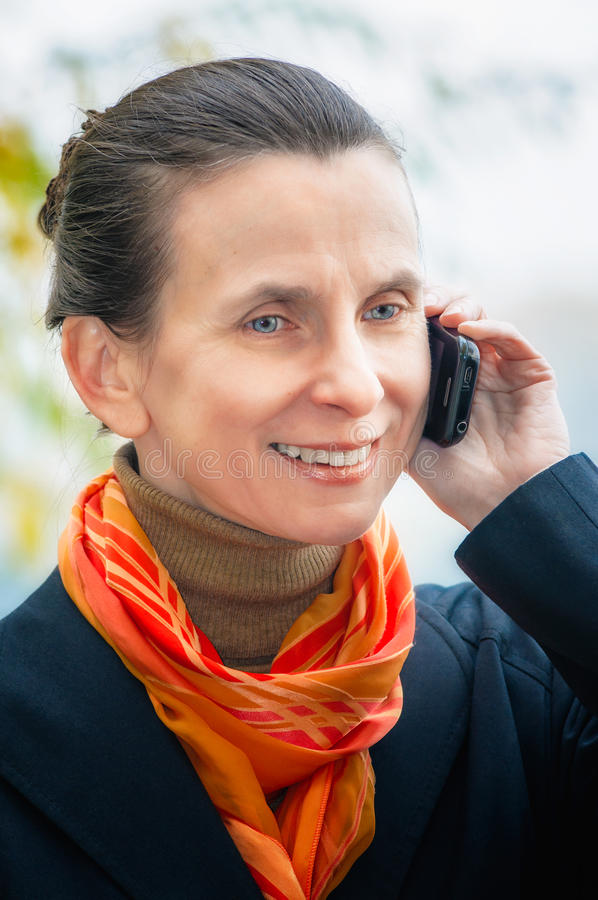 Buisiness Woman With Phone Stock Images