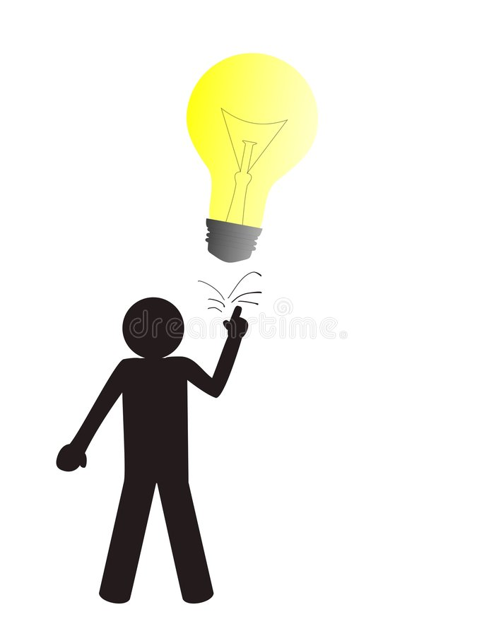 Buisness man with a big idea. A vectorial icon with a buisnessman with a big and good idea.Clip vector illustration