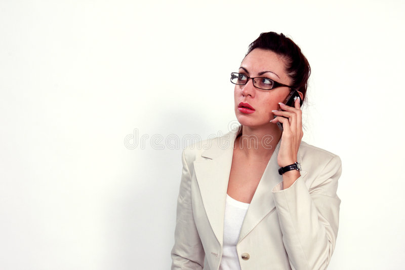 Buisness woman on a cell phone