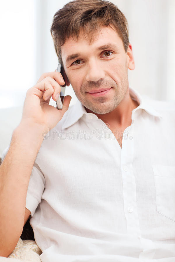 Download Buisnessman With Cell Phone Stock Photo - Image: 34770038
