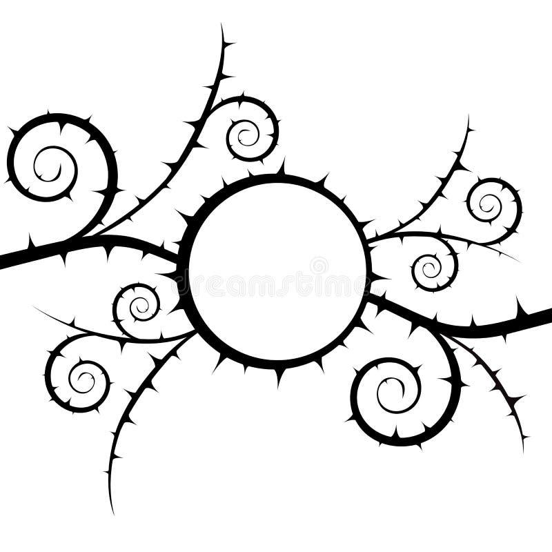 buisson Fond abstrait noir et blanc floral de vecteur illustration stock