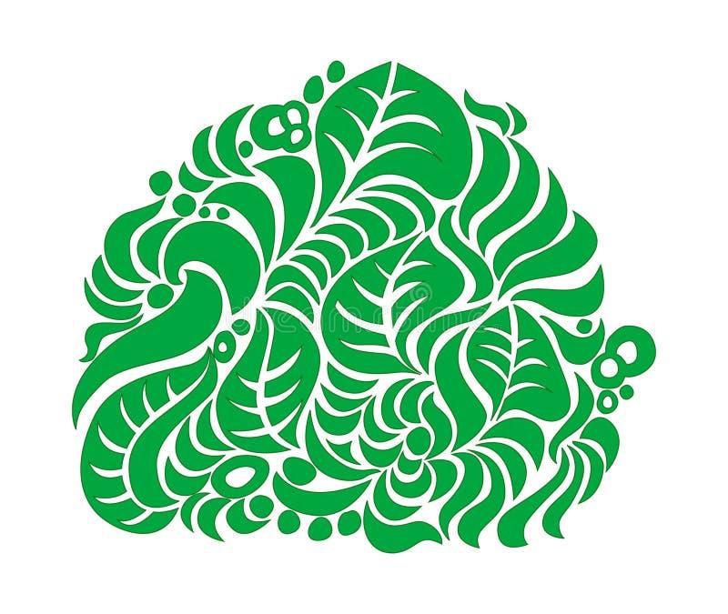 Buisson vert sur le blanc photo libre de droits