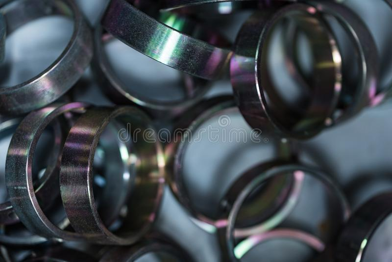 Buissons en métal Fond industriel abstrait image stock