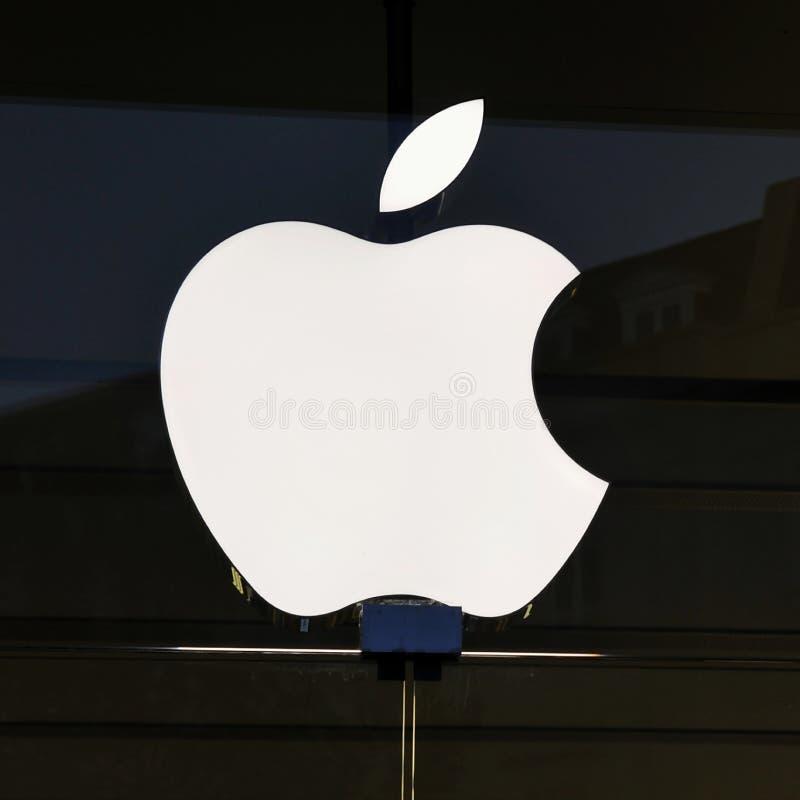 Buiten Detail van Apple Store royalty-vrije stock afbeelding