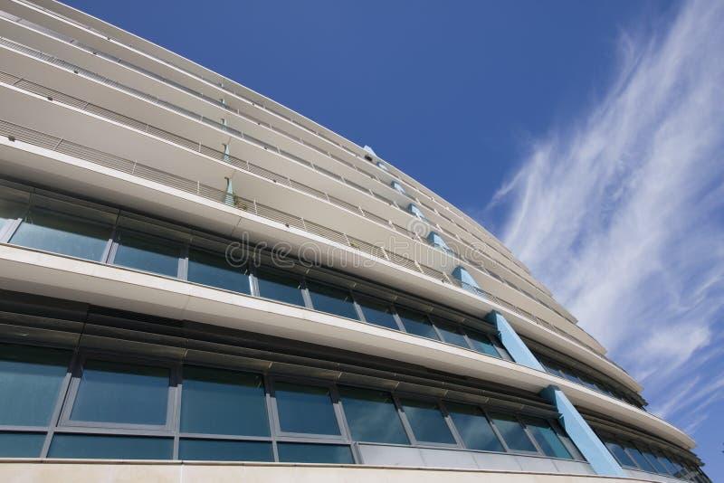 Buiten mening van gebouwen de van de binnenstad van het stadsbureau stock foto