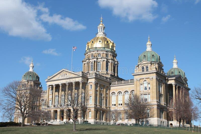 De Staat Capitool-Des Moines, Iowa van Iowa stock afbeelding