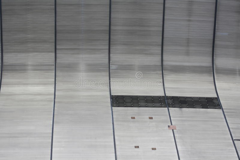 Buiten Muur van New Orleans Superdome royalty-vrije stock afbeelding