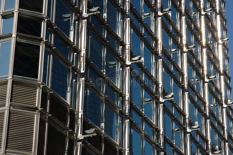 Buiten structuur van de bedrijfsbouw stock afbeeldingen