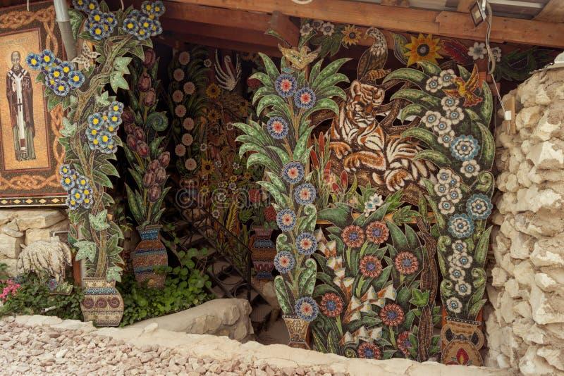 Buitendecoratie van het klooster van de pareltempel van Anastasia royalty-vrije stock foto