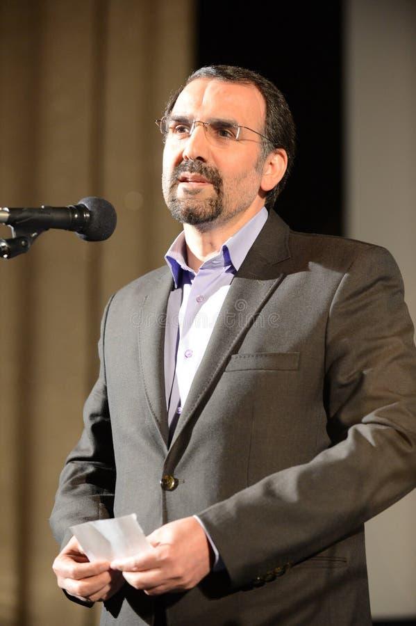Buitengewone ambassadeur en Gevolmachtigde van de Islamitische Republiek Iran in Russische Federatie Mehdi Sanai stock afbeeldingen