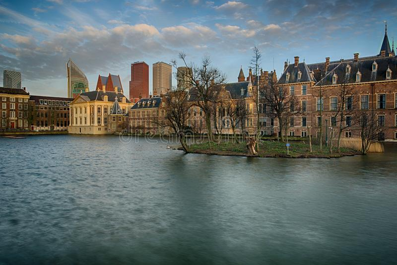 Buitenhof, Houses of the Dutch Parliament in the Hague stock photography