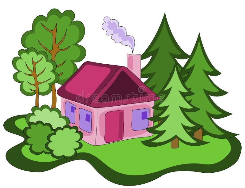 Buitenhuis vector illustratie