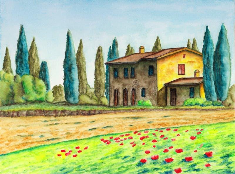Buitenhuis royalty-vrije illustratie
