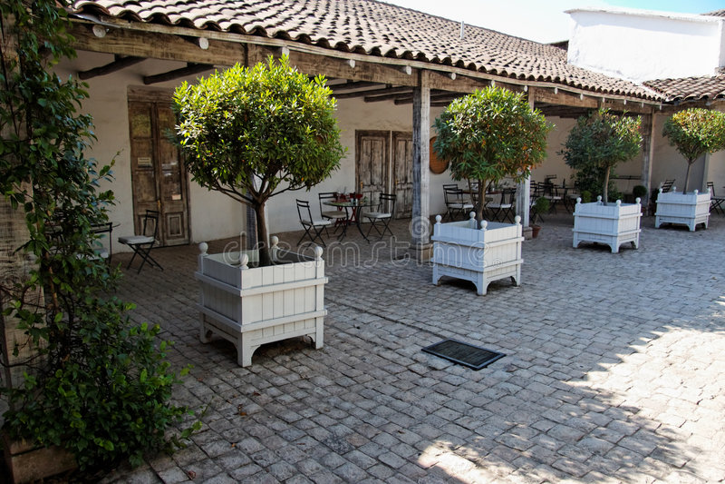 Buitenhuis in Chili royalty-vrije stock afbeelding