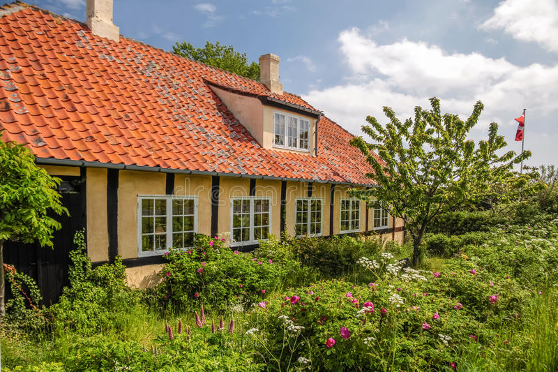 Buitenhuis op Bornholms royalty-vrije stock foto's