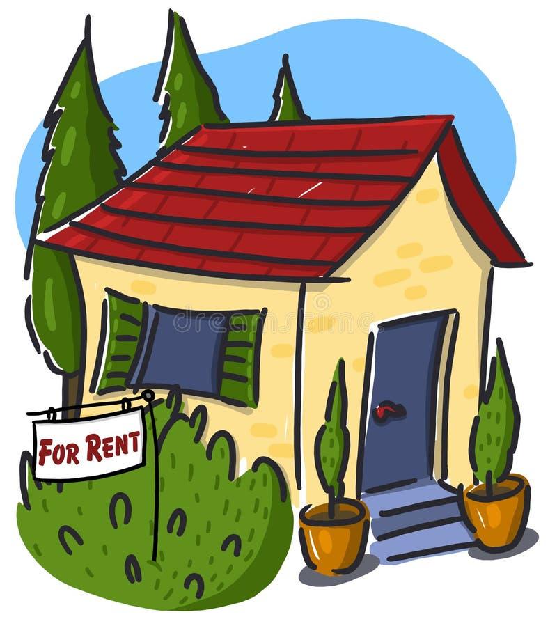 Buitenhuis voor huur stock illustratie