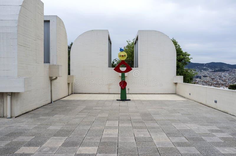 Buitenjoan miro-stichting, die door Josep Lluis Sert, park bouwen, royalty-vrije stock foto's