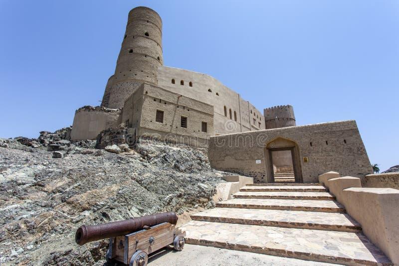 Buitenkant van Bahla-Fort in Bahla, Oman, Midden-Oosten royalty-vrije stock afbeelding