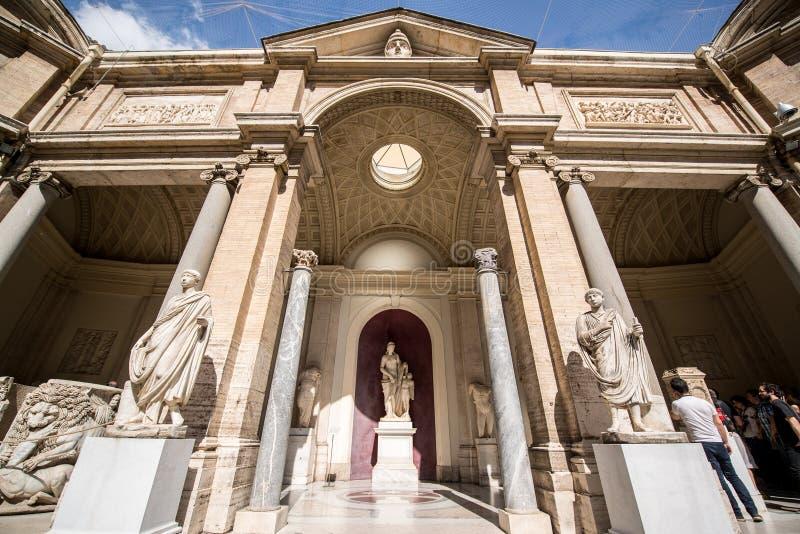 Buitenkant van de Musea van Vatikaan royalty-vrije stock foto