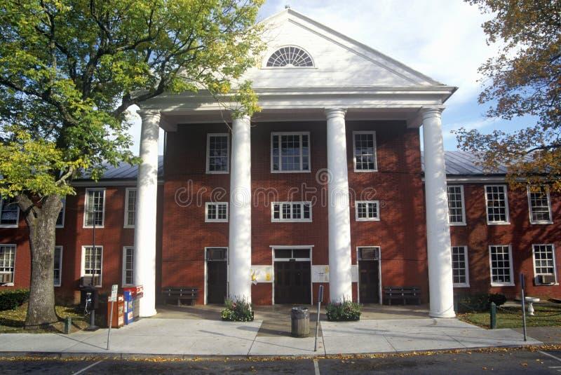 Buitenkant van Greenbrier-het Hof van de Provincie Huis in Lewisburg, WV op Toneelwegroute 60 royalty-vrije stock afbeeldingen