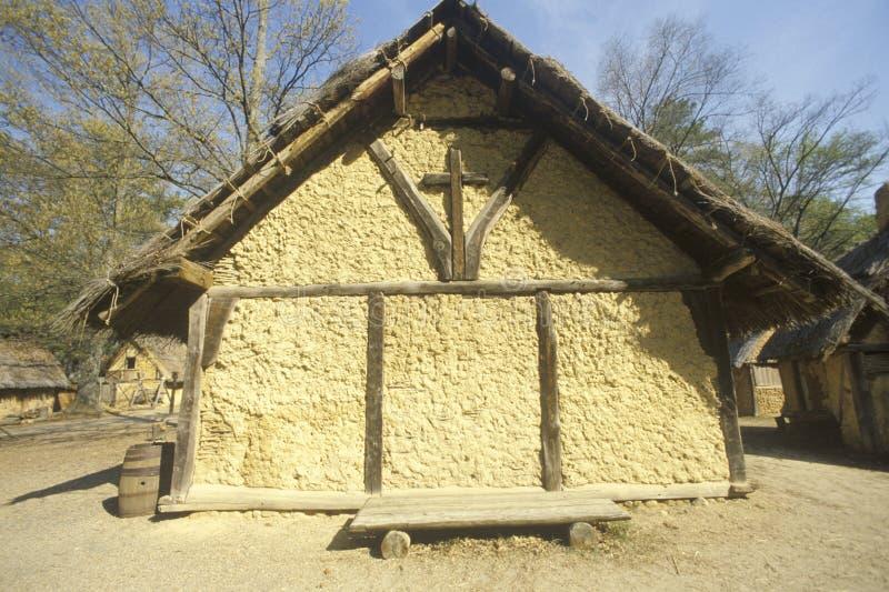 Buitenkant van kerk in historische Jamestown, Virginia, plaats van de eerste Engelse Kolonie royalty-vrije stock foto