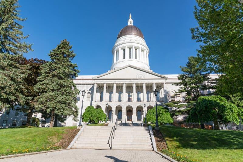 Buitenkant van Maine Capitol Building royalty-vrije stock fotografie