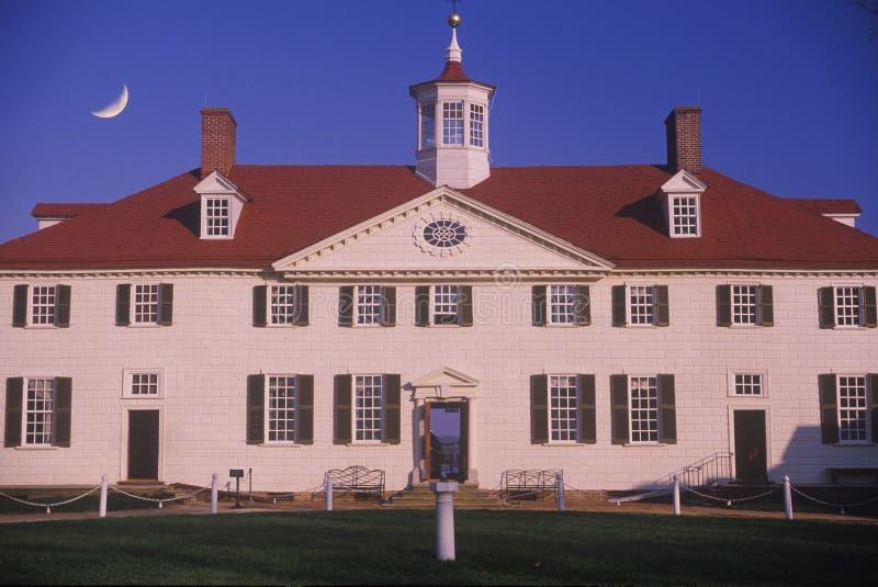 Buitenkant van Mt Vernon, Virginia, huis van George Washington royalty-vrije stock afbeelding