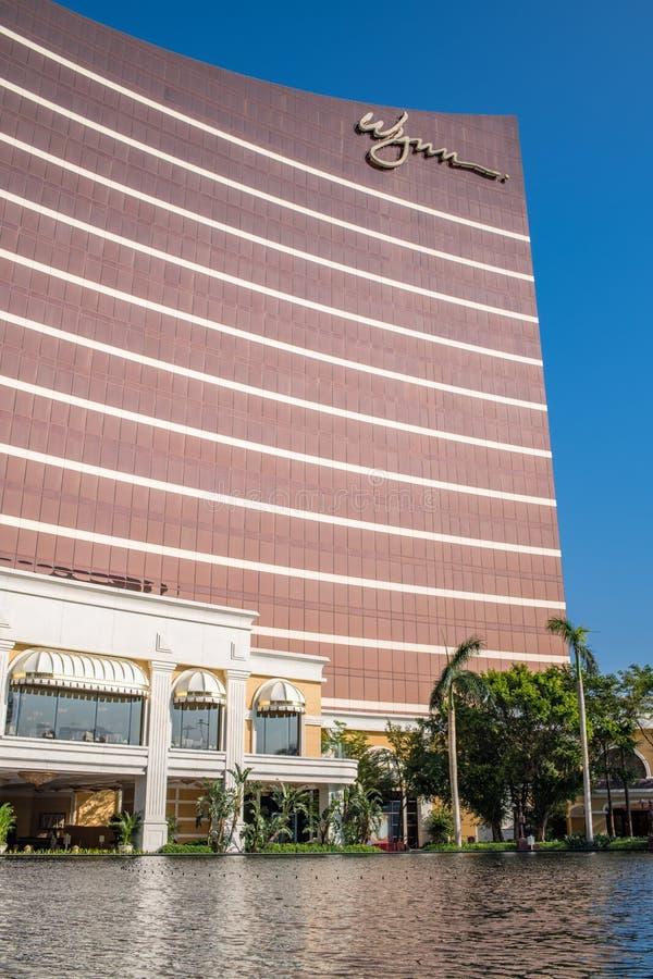 Buitenkant van Wynn Macau royalty-vrije stock afbeeldingen