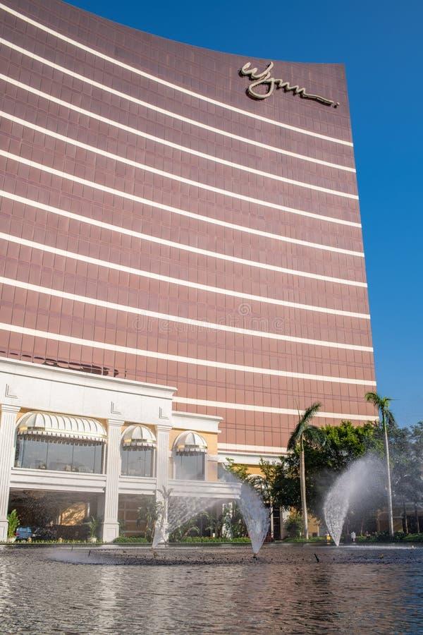 Buitenkant van Wynn Macau stock afbeelding
