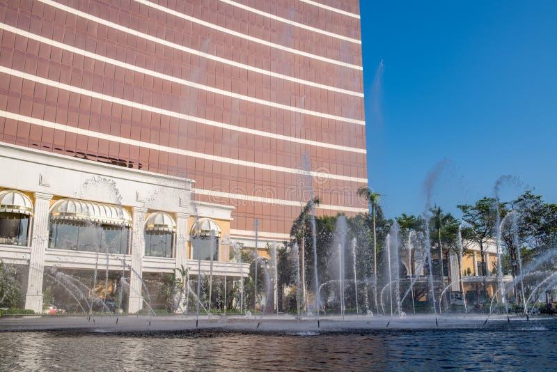 Buitenkant van Wynn Macau stock foto