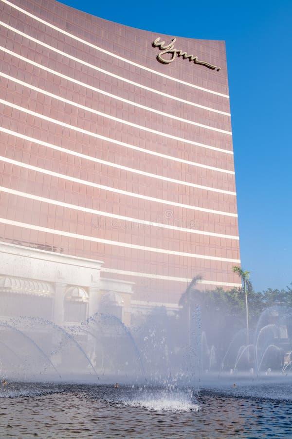 Buitenkant van Wynn Macau stock foto's
