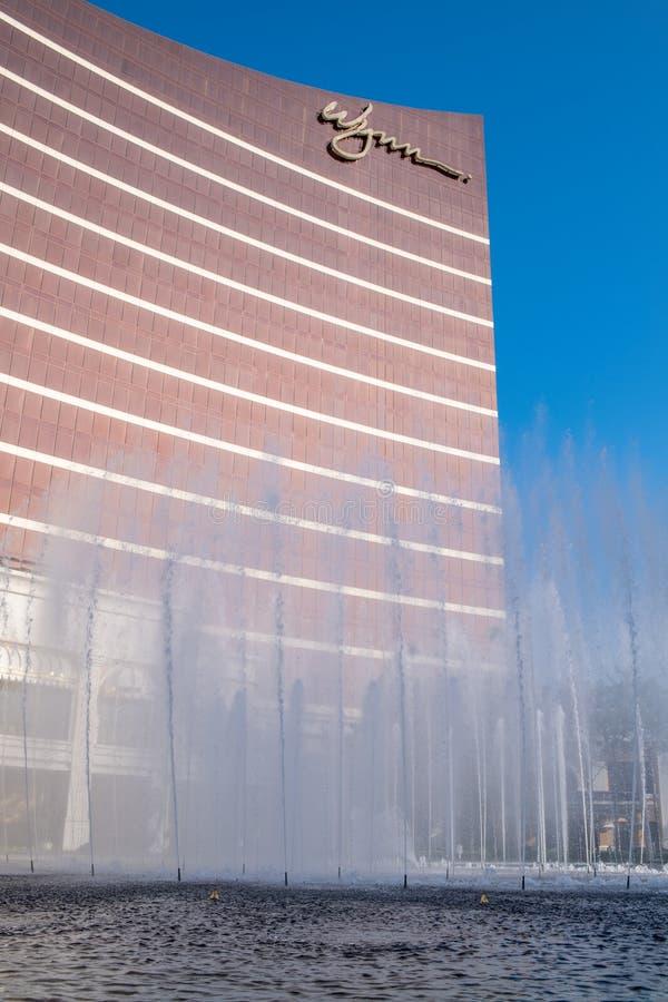 Buitenkant van Wynn Macau stock afbeeldingen