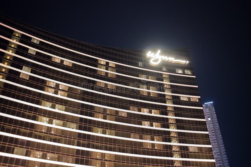 Buitenkant van Wynn Macau royalty-vrije stock foto's