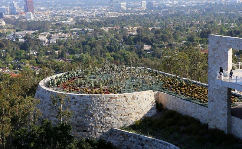 Buitenkanten van het Getty-Centrum, Los Angeles, Californië royalty-vrije stock foto's
