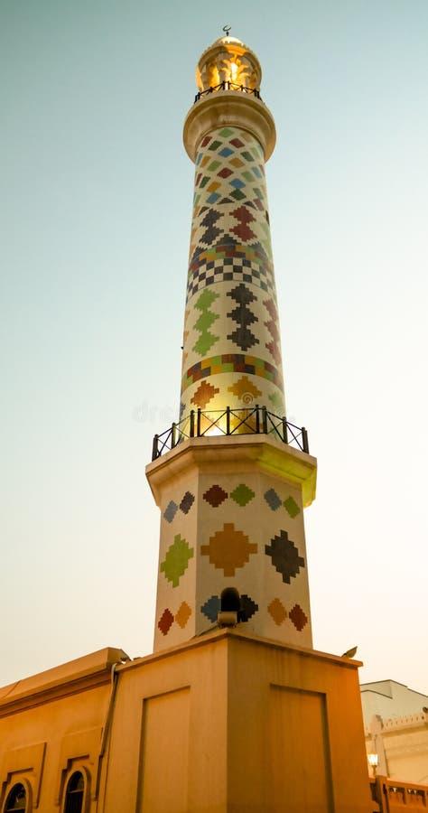 Buitenmening aan Al Fadhel Mosque, Manama, Bahrein stock fotografie