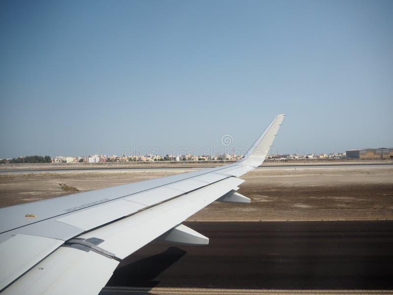 Buitenmening van het vliegtuig door Azië royalty-vrije stock foto