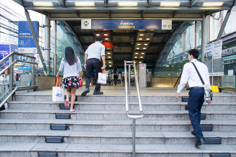 Buitenmening van Huai Khwang-MRT Post royalty-vrije stock fotografie
