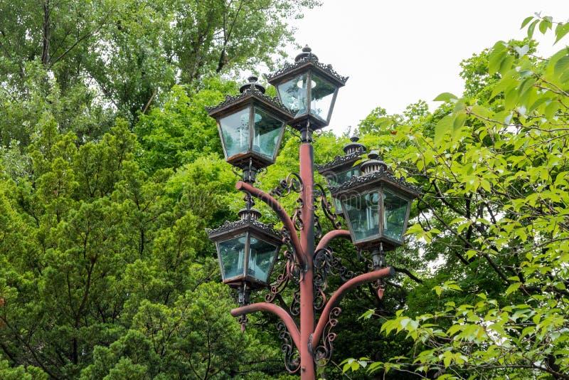 Buitenpark van het Vroegere Regeringskantoor van Hokkaido stock afbeeldingen