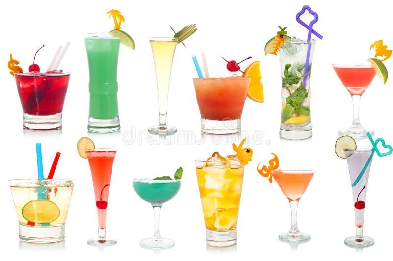 Buitensporig drink cocktails royalty-vrije stock afbeelding