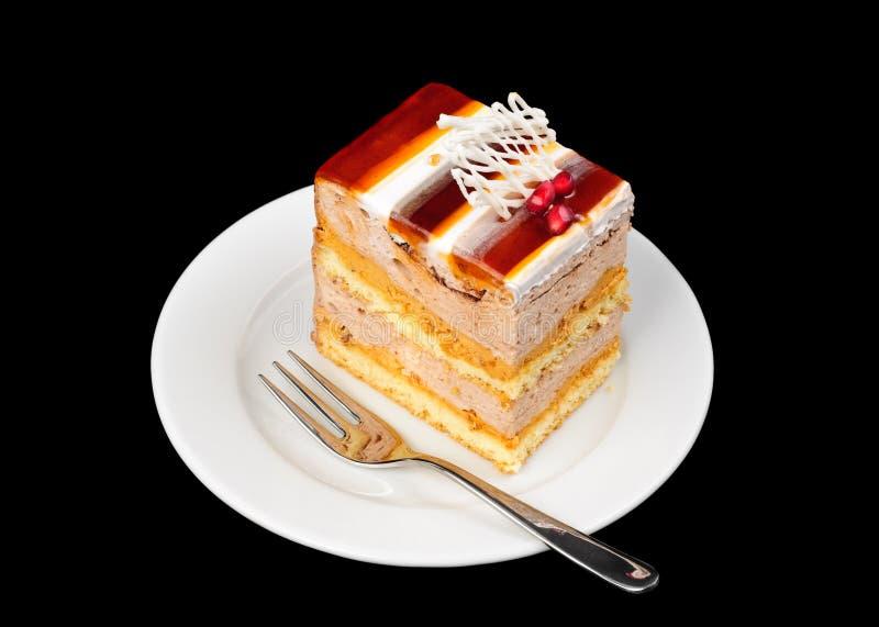 Buitensporige cake met gelei op bovenkant stock fotografie